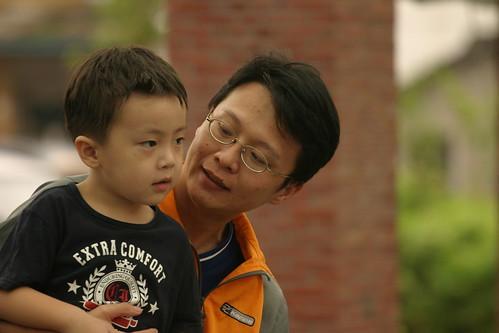 你拍攝的 湯圍溝公園:Ryan和Uncle玩。