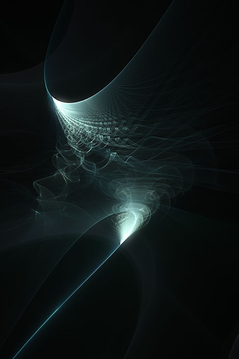Fractal Art - Flying the Vortex by Nicholas M Vivian