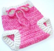 **Presidents Day Sale** Pink Crocheted Wool Soaker (Small) 3 day auction