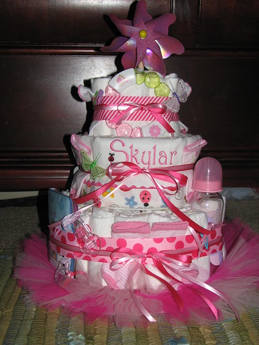 diaper cake for Skylar by you.