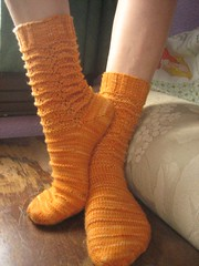 FO:  inverted marigold socks