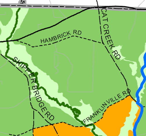 Detail, 2030 Lowndes County Future Development Map