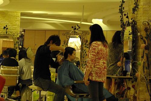 Liz gets a haircut