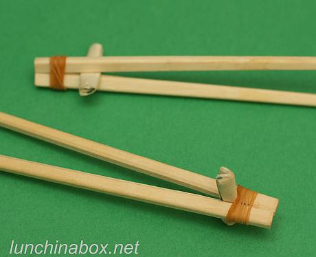 DIY chopsticks for beginners (close up)