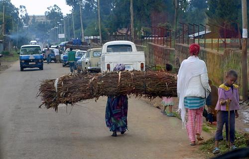 Una calle de Kechene, en Addis Abeba
