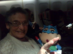 Lentoseuraa (xmacex) Tags: airplane character chibi passenger granny grannie