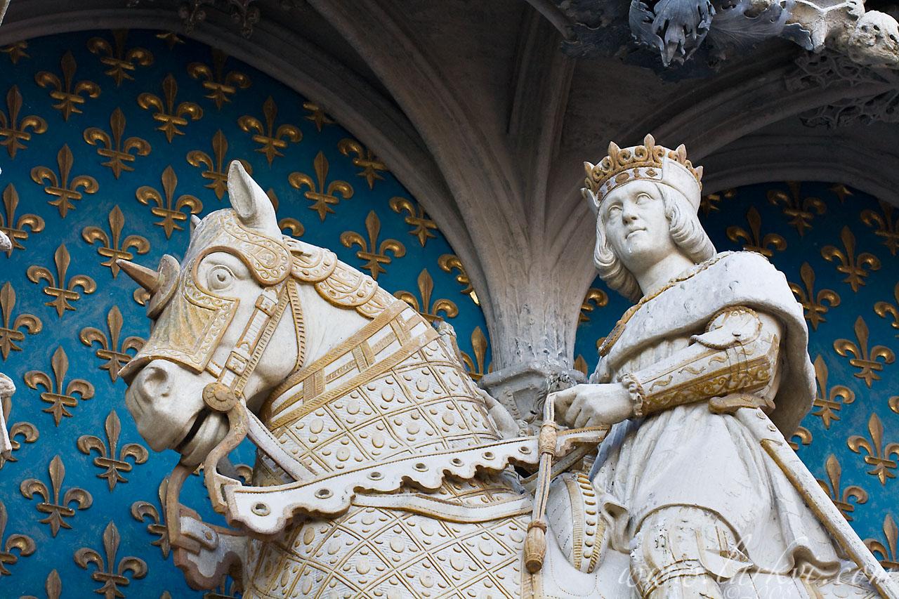 Statue du Roi Louis XII, Château de Blois, Loir-et-Cher, France, July 2008