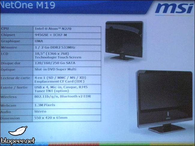 MSI NetOne M19