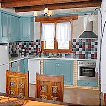 The kitchen in Villa Eleni on Zante by Sunisle Holidays