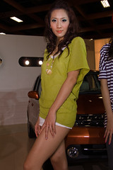 PICT1986 (Luke Luo) Tags: show girls portrait people woman cute sexy girl beautiful beauty face asian model women asia pretty legs sweet femme leg taiwan autoshow babe showgirl belle taipei charming   sg 2008   boothbabe boothbunny   promotionalgirls   2008 taipeiinternationalautoshow2008