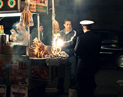 "NIGHT STREET PHOTOGRAPHY (1 of 3): ""Navy guy gets hungry"" (Sion Fullana) Tags: newyork night navy streetphotography 5thavenue beautifullight hi nightshots hotdogs sailor roastedchestnuts usnavy allrightsreserved streetvendor marinero sexyguy pretzelcart navyguy panasonicdmcfz50 castaasasadas newyorkcharacters nightstreetphotography sionfullana nightinnewyork sionfullanasphotography sailorbuyingpretzel sexyvendor marinerocomprandounpretzel sionfullana"