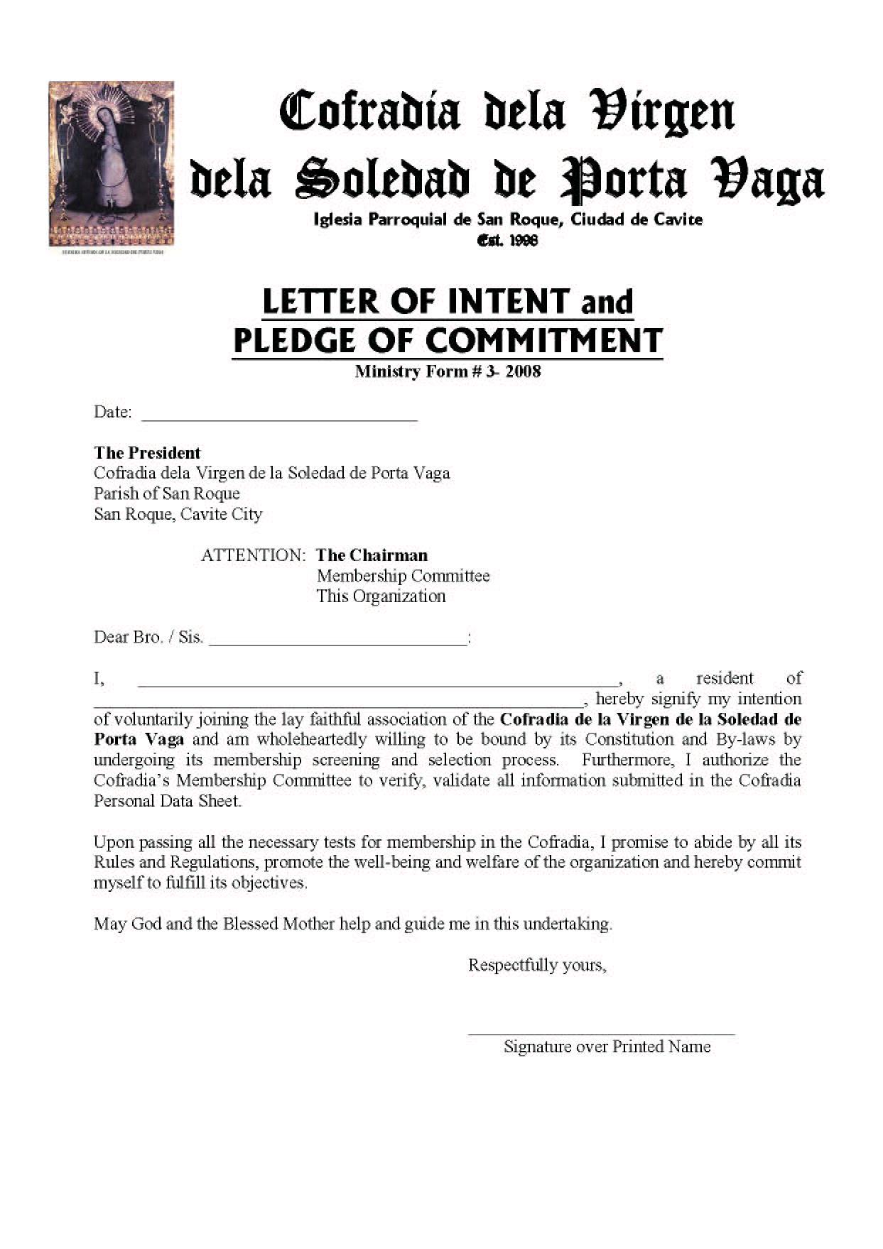 letter of intent-SOLEDAD