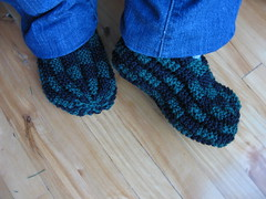 Knitting Pattern For Checkerboard Slippers : by pennyismycat