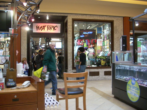 A Hot Topic store in Newport News, VA, on 12300 Jefferson Ave, inside