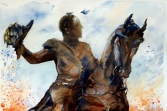 Art: aquarelle: ...LUXEMBOURG-ville, monument Guillaume II (Nadia Minic) Tags: horse art monument watercolor painting cheval photo interestingness nadia europe artist gallery foto kunst aquarelle kultur culture galerie exhibition exposition hut chapeau painter watercolour welcome luxembourg artcontemporain pferd oeuvre couleur interessantes atelier posie acuarelas aquarell beauxarts maler harmonie minic acquarello wilhelmii pittrice guillaumeii artistepeintre knuedler aquarelliste villedeluxembourg watercolourpainter nadiaminic nadiaart aquarellistin aquarellmalerin luxembourgpainting peintureluxembourg luxembourgartistepeintre