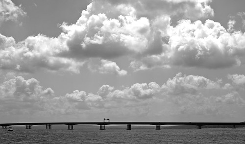 Chautauqua Lake Bridge B&W