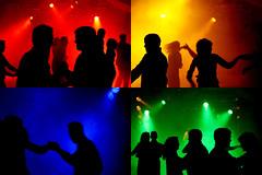 Collage: Tanz der Farben