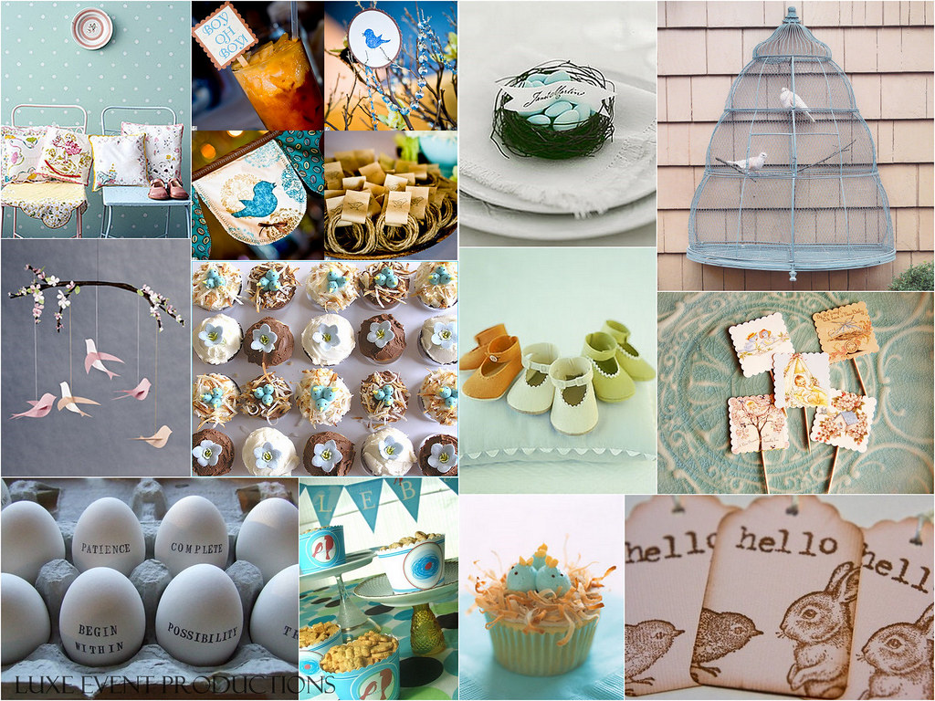 Luxe Style :: Baby Shower :: Baby Bird theme