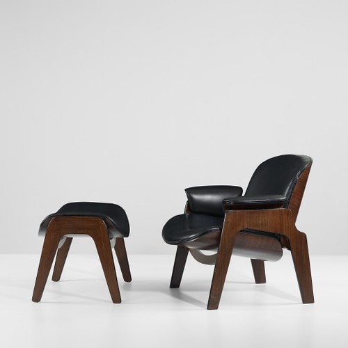 Ico and Luisa Parisi, lounge chair and ottoman