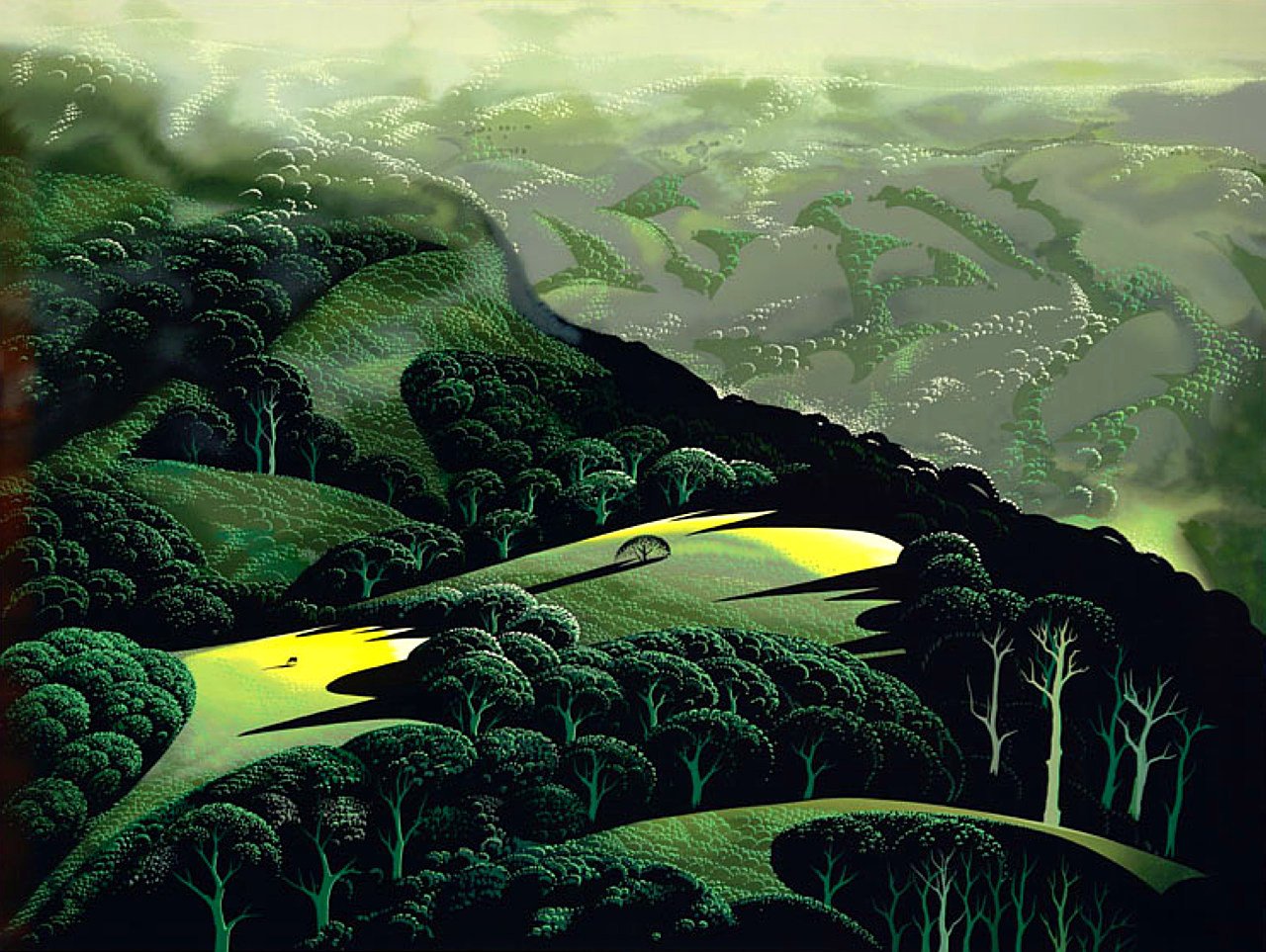 eyvind earle Fog-and-Storm-and-Rain-1996