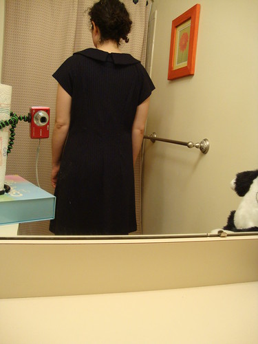 Butterick 5244: day 4: tweaking the back fit
