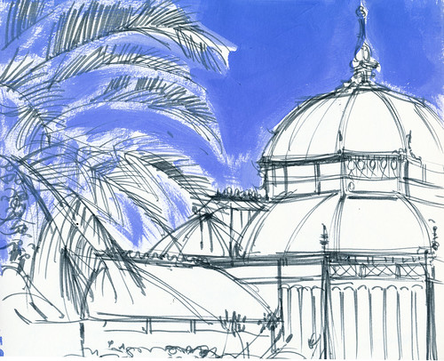 Conservatory of Flowers, left hand side of sketch
