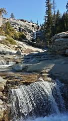 Upper Chilnualna Falls (Okup8avos) Tags: california water river landscape waterfall cellphone yosemite yosemitenationalpark sierras chilnualna chilnualnafalls