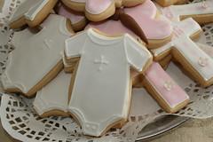 Baptism Onesie Cookies (irresistibledesserts) Tags: cookies baptism christening onesie