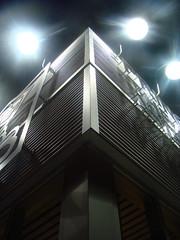 cornerlight (skylinejunkie) Tags: light canada building night corner edmonton steel lookup alberta cans2s