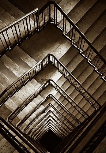 il buco nero [stairs in lecce, salento, puglia, italia, italy]