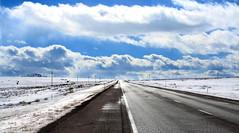 """...This road will never end... (Ocean.movie) Tags: road winter snow phoenix clouds river movie colorado border explore nm oceanmovie"
