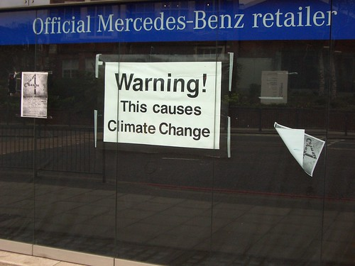 Finchley Road Mercedes Climate protest