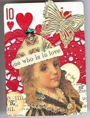 Who's in Love (My Artistic Side by Judy B) Tags: love atc playingcard