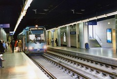 ROUEN TRAM IN TUNNEL UNDER CITY CENTRE