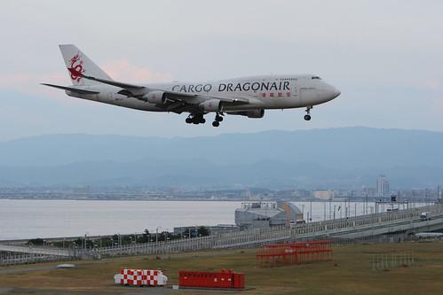 Dragonair Cargo's B747-400BCF @RJBB