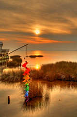 Have a Nice Weekend (avirus) Tags: sunset sea summer color grass duck nc northcarolina storefront outerbanks hdr obx soundside