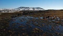 Hverfell (richardcnorman) Tags: mountain lake water landscape volcano iceland d70s nikond70s crater volcanic myvatn midatlantic rift lakemyvatn hverfell