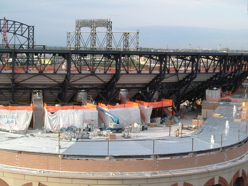 Above the Jackie Robinson Rotunda - Citi Field