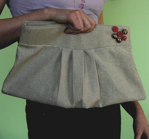 linen clutch