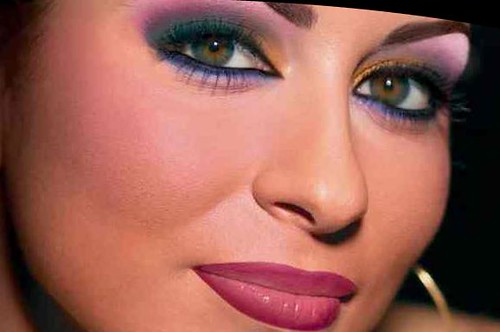 hijab styles and arabic makeup. arab make up style