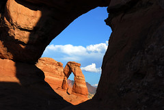 Pair of Arches (NaturalLight) Tags: park utah arch arches national delicate flickrsbest diamondclassphotographer flickrdiamond