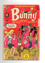 Bunny, Queen of the In Crowd! No1 (sparkleneely) Tags: boss bunny vintage comics mod 1966 harvey hip groovy bunnyqueenoftheincrowd