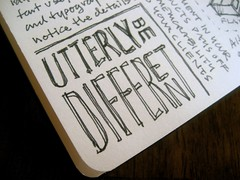 SEED 3 Sketchnotes: : Be Utterly Different