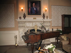 "The living room set of ""Dark and Stormy Night"""