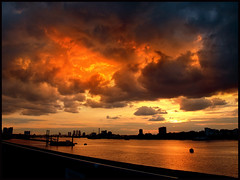 1378 London's Burning (andy linden) Tags: sunset sky london thames clouds river aperture woolwich firepower blueribbonwinner 1378 anawesomeshot amazingskyscapes