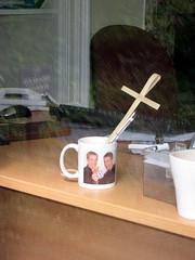 Gay Priest's Mug (karlequin) Tags: holiday window scary lakedistrict mug crucifix disturbing priests karlequin