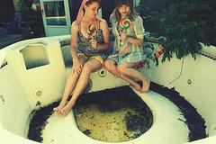 (yyellowbird) Tags: girls summer selfportrait erin lolita hottub cari lollipop