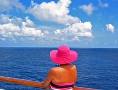 Pink and Blue View (Jeff Clow) Tags: ocean travel sea vacation view getaway cruising caribbean relaxation leisurely jeffclow platinumphoto jeffrclow