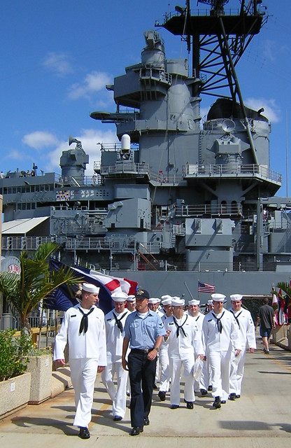 Navy Seamen at Pearl Harbor