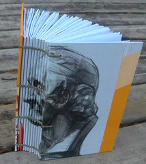 Face on the Spine Journal (MyHandboundBooks) Tags: book recycled journal coptic handbound chainstitch myhandboundbooks